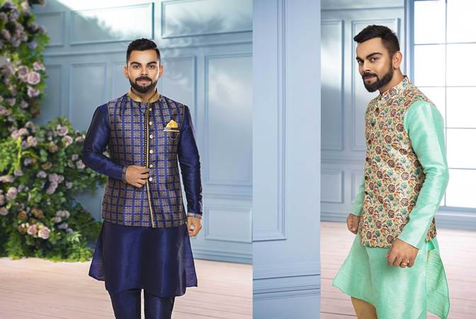 36f8a97f10 Indian skipper, Virat Kohli recently spoke about his favorite looks for the  festive season as he launched a Diwali campaign called – India Ethnic Week  – by ...